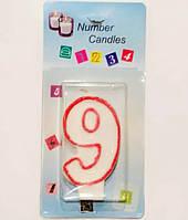Свеча цифра 9 в торт, фото 1