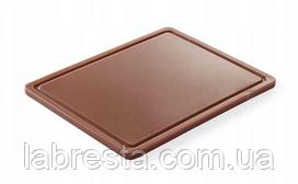 Доска разделочная Hendi 826140 HACCP GN 1/2 - коричневая