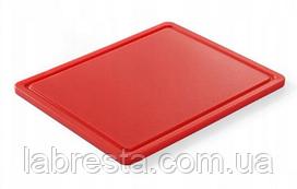 Доска разделочная Hendi 826119 HACCP GN 1/2 - красная