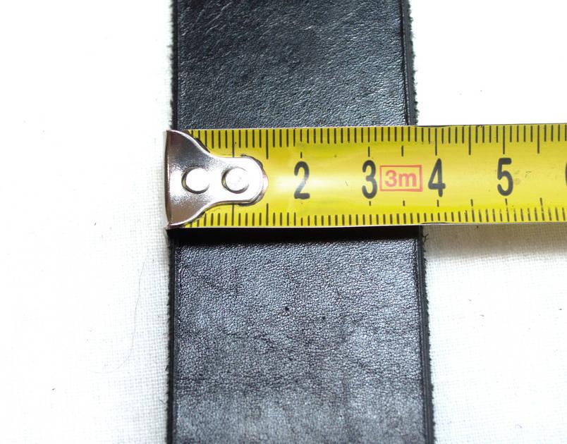 Ремінь шкіряний чорний 26-2, фото 2