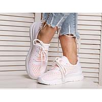 Мягкие белые женские кроссовки 36 37 38 40р  полномерные