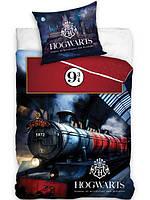 Постельное белье полуторный евро комплект Гарри Поттер - Хогвартс Школа магии