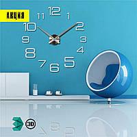 Часы 3D настенные WOW кварцевые Арабские Разные Зеркальные 100 см