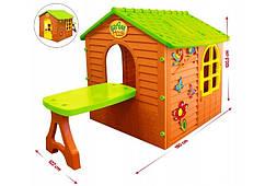 Детский игровой домик Mochtoys с столиком и стульчиком