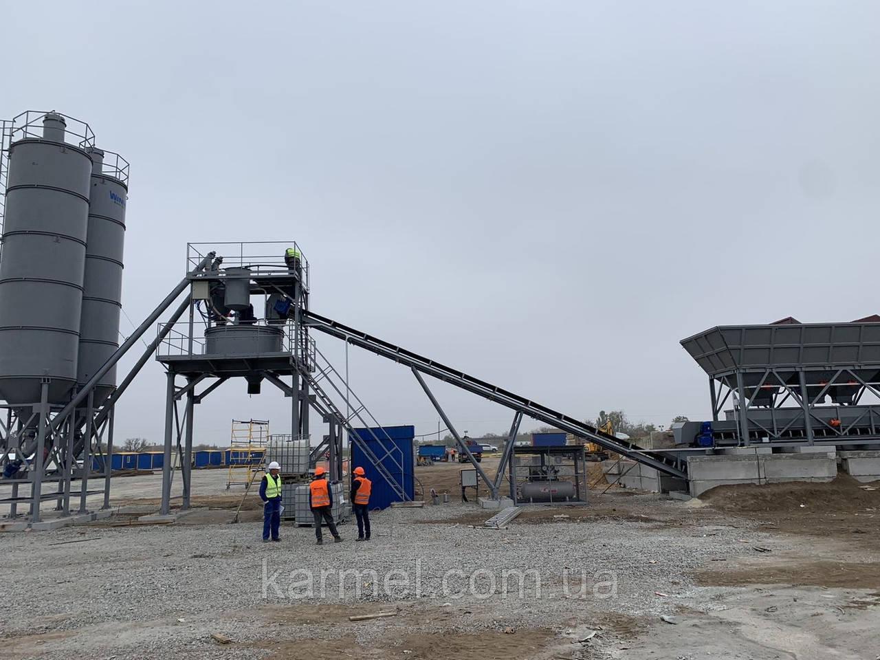 Бетоносмесительная установка БСУ-50К производителя KARMEL 50м.куб/час