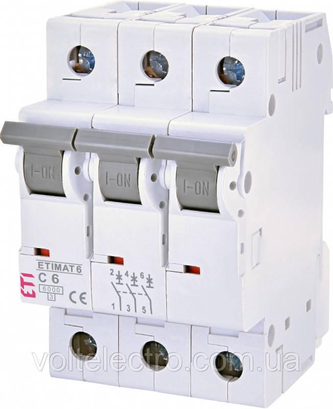 Автоматичний вимикач ETIMAT 6 3p C 6A
