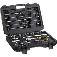"""Набор торцевых головок и ключей с инструментами в футляре Stanley 1/4"""" и 1/2"""" 41 шт."""