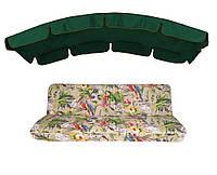 Комплект для качелей eGarden Loros Rojo 180 темно-зелений тент