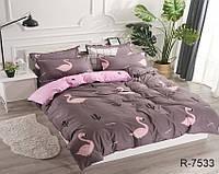Полуторное постельное белье Комплект постельного белья полуторный с компаньоном (Ренфорс) ТМ TAG R7533
