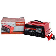 Зарядний пристрій для автомобільних акумуляторів Worcraft BC-217, фото 3