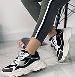 Кроссовки женские на платформе. Экокожа + текстиль . Размер 36 - 40., фото 3
