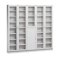 Большой белый книжный шкаф Сократ