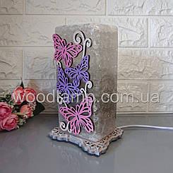 Соляная лампа Бабочки 2 цветная