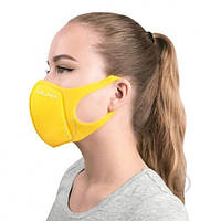 Многоразовая защитная угольная маска ULKA (Желтая)