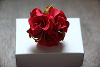 Колечко цветочное красное из фоамирана