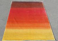 Шелковый ковер красно-желто оранжевого цвета Киев
