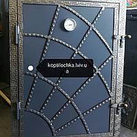 """Дверка """"Павутинка"""" утеплена для мангала,барбекю.Монтажный розмір 60*80"""