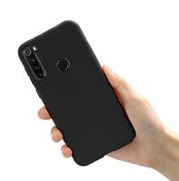 Чехол силиконовый черный для Xiaomi Redmi Note 8 (ксиоми сяоми редми нот 8)