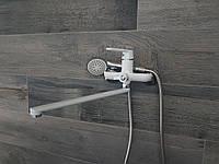 Смеситель для ванны белый Tiger 006 White, фото 1