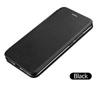 Чехол-книжка для Xiaomi Redmi Note 8 черная (ксиоми сяоми редми нот 8)