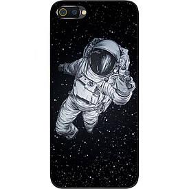 Чехол силиконовый с картинкой для Realme C2 Космонавт