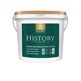 Kolorit History Напівматова інтер'єрна фарба / 4,5 л. / база А