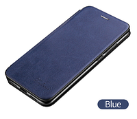 Чехол-книжка для Xiaomi Redmi Note 8 синяя (ксиоми сяоми редми нот 8)