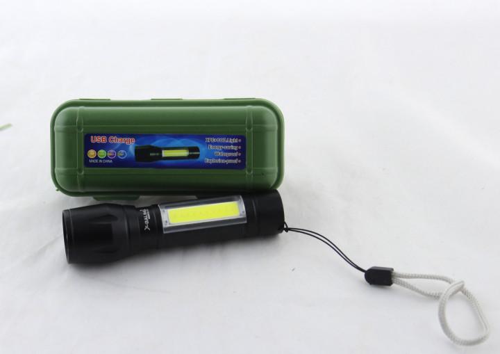 Светодиодный фонарь ручной с COB USB Bailong Police BL-511 в кейсе (4814)
