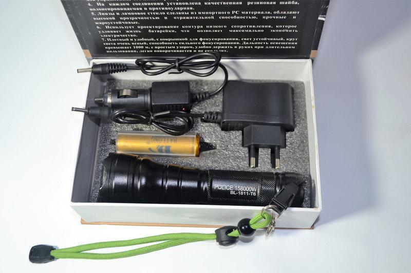 Фонарь тактический Police Bailong BL-1811-T6 158000W