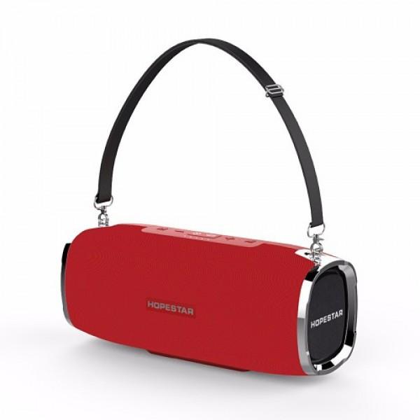 Мощная портативная bluetooth колонка Sound System A6 Hopestar Red (Z042)