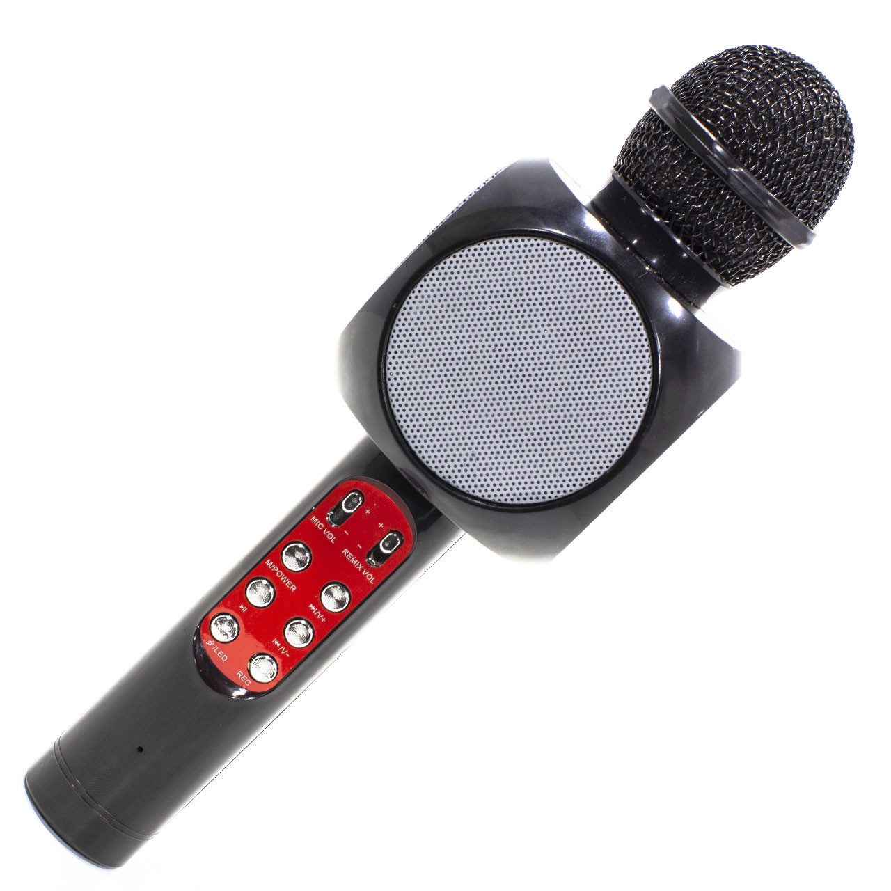 Беспроводной портативный микрофон Micgeek WS-1816 для караоке с подсветкой Bluetooth Black