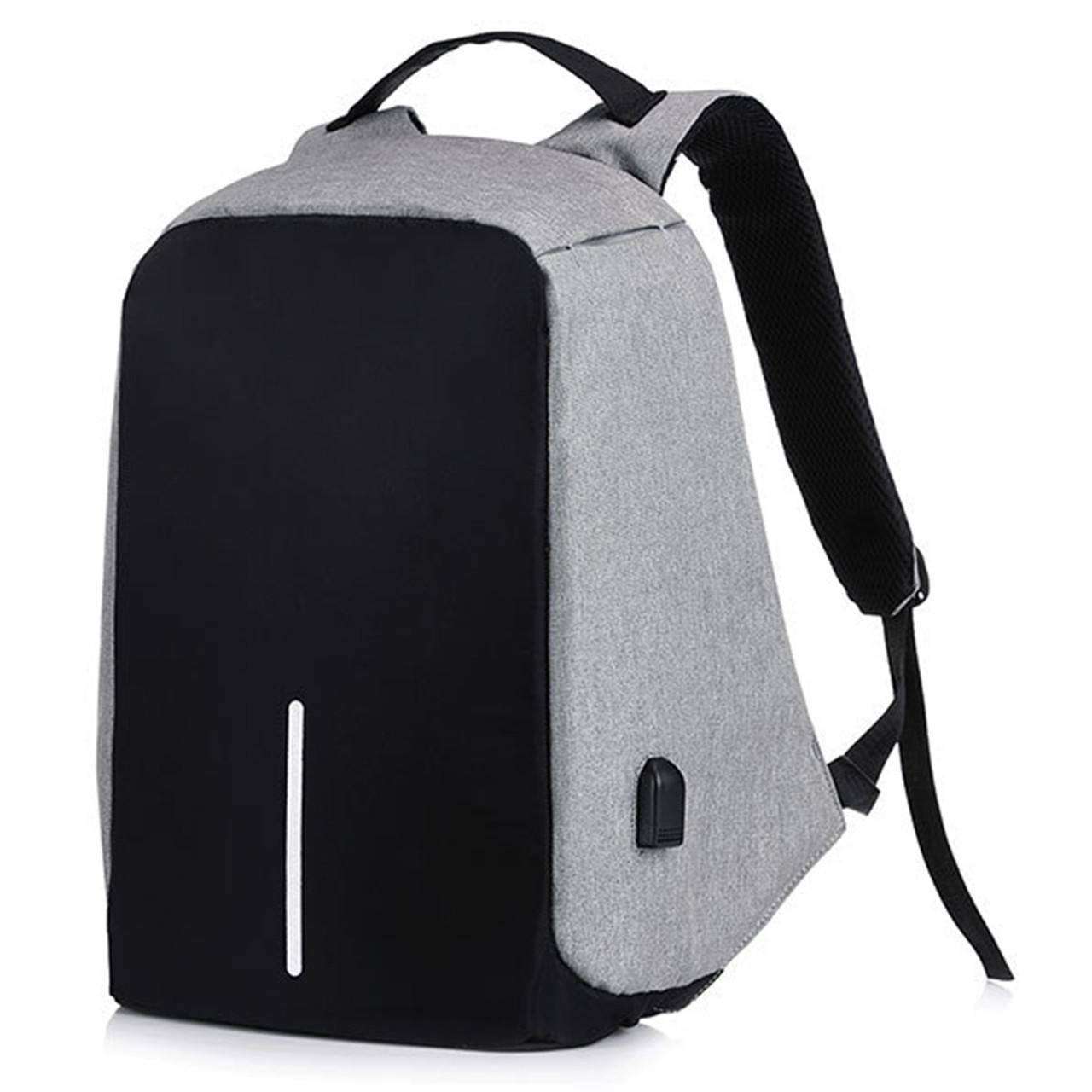 Рюкзак антивор Bobby с USB портом Bobby Серый