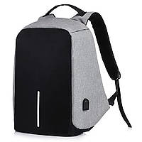 Рюкзак антивор Bobby с USB портом Bobby Серый, фото 1