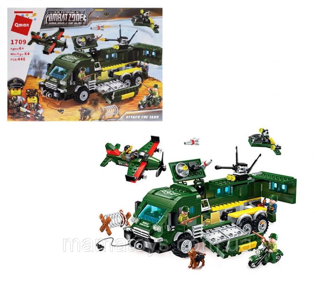 Конструктор Brick / Qman1709 Enlighten Атака на Бронированный Автомобиль 446 деталей