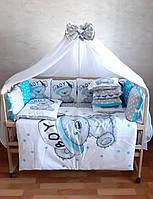 """Детский постельный комплект в кроватку для мальчика """"Принт"""""""