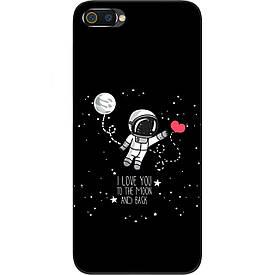 Чехол силиконовый с картинкой для Realme C2 Любовь до луны