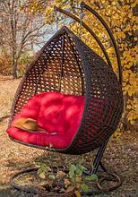Підвісне садове крісло гойдалка кокон крапля куля плетене з ротанга Українські Конструкції Дабл Преміум / Dabl