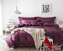 1,5-Спальный комплект постельного белья Страйп-Сатит Mauve Wine