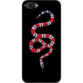 Чехол с картинкой силиконовый для Realme C2 Змея