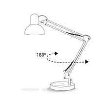 Настольная лампа FERON DE1430 с подставкой и струбциной Белая, фото 2