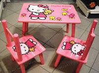 Детский столик M 0294 «Hello Kitty» с двумя стульчиками