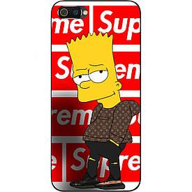 Чехол с картинкой силиконовый для Realme C2 Барт Симпсон