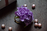 Колечко квіткове бузкове з фоамирана