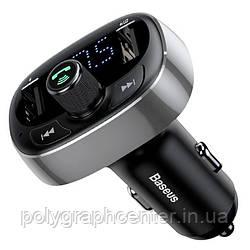 АЗП з FM-модулятором Baseus T typed Wireless MP3 Сharger Tarnish