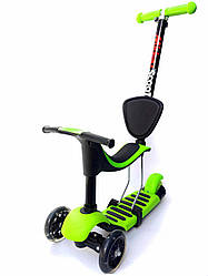 Самокат-беговел Scooter Credo Green: 2+, ABEC-9