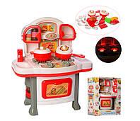 Детский тематический набор Кухня с плитой и кастрюльками Metr+, бело-красный