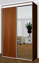 Шкаф купе швг - 130х60х240 см двухдверный - Зеркало- (метровый на две двери) - ВЛАБИ - Одесса