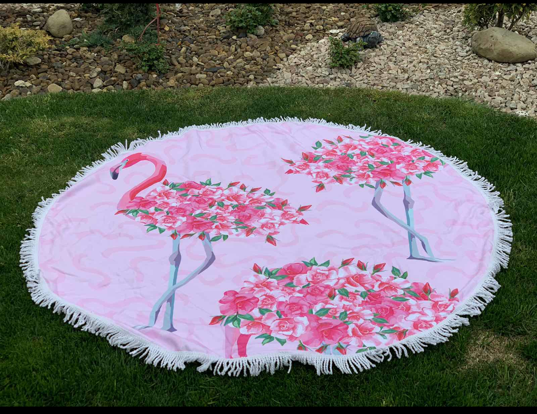 Пляжный круглый коврик-покрывало