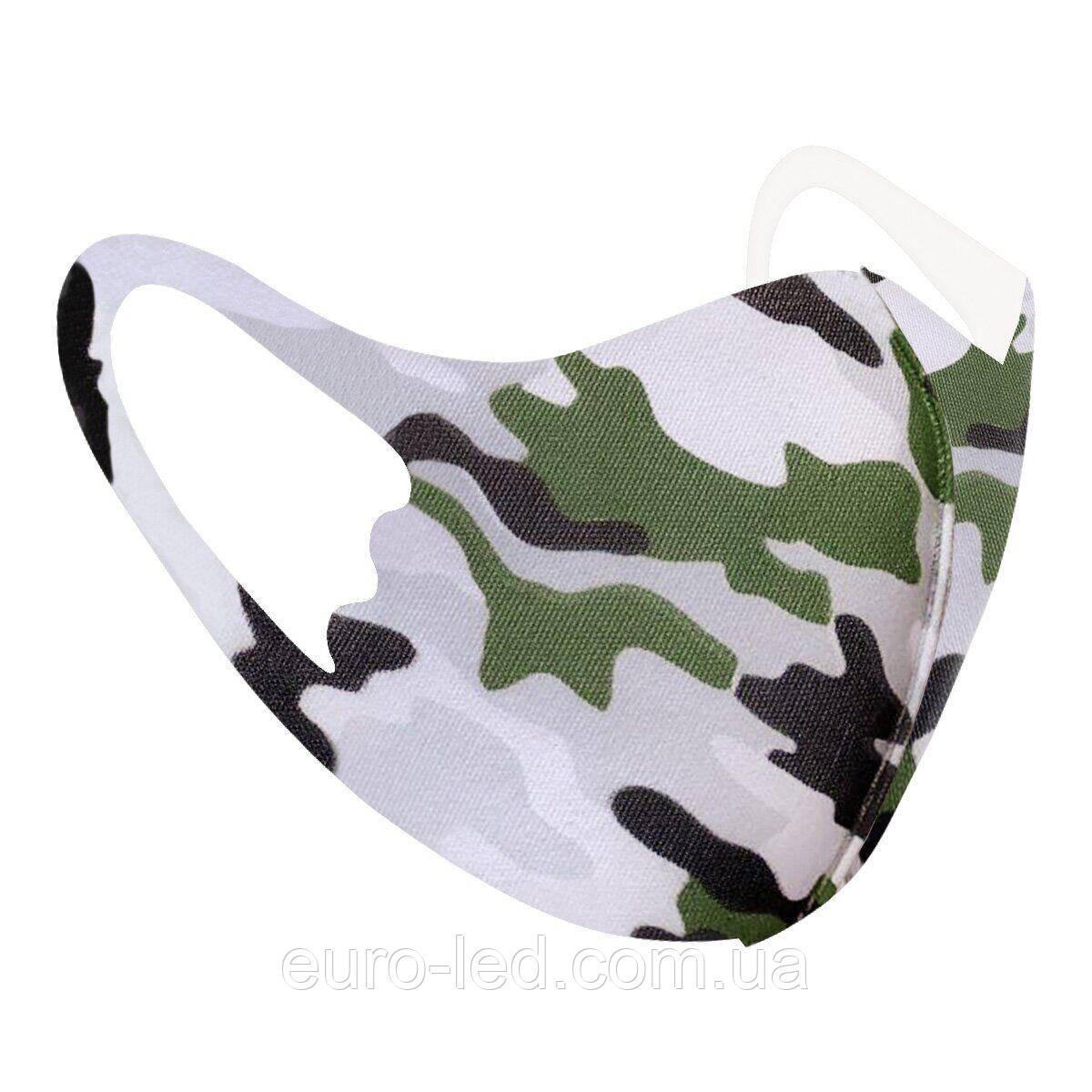 Защитная маска Pitta Military PС-MG, размер:детский, military зеленый