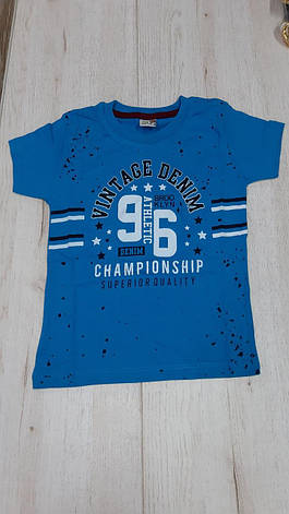 Детская футболка для мальчика р. 3-7 лет, фото 2